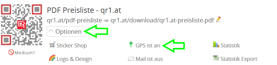 GPS tracking option
