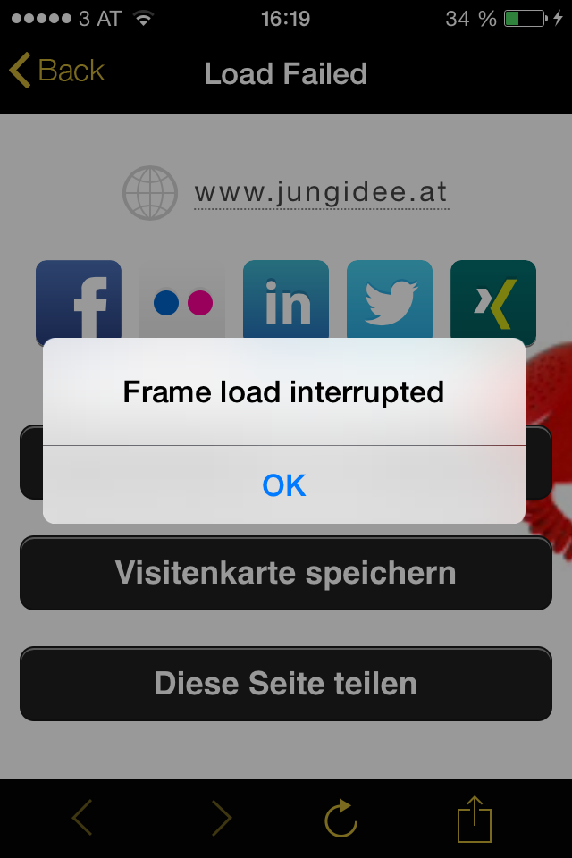 Frame load interrupted